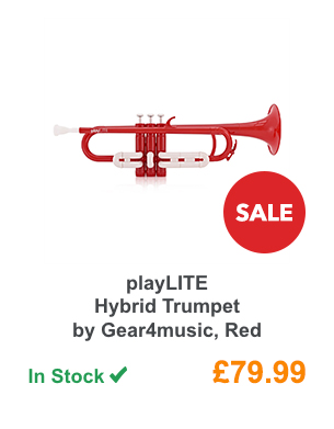 playLITE Hybrid Trumpet by Gear4music, Red.