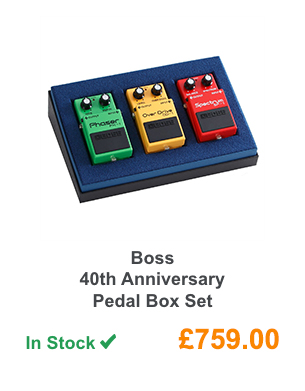 Boss 40th Anniversary Pedal Box Set.