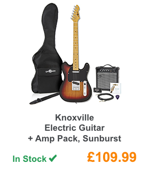 Knoxville Electric Guitar + Amp Pack, Sunburst.