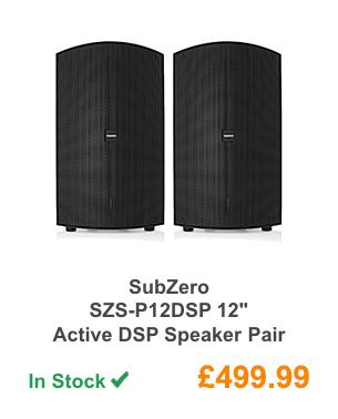 SubZero SZS-P12DSP 12'' Active DSP Speaker Pair.