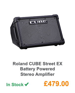 Roland CUBE Street EX Battery Powered Stereo Amplifier.