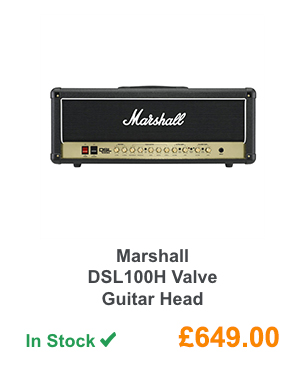 Marshall DSL100H Valve Guitar Head.