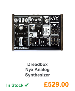 Dreadbox Nyx Analog Synthesizer.