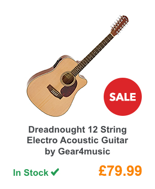 Dreadnought 12 String Electro Acoustic Guitar by Gear4music.