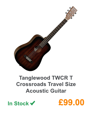 Tanglewood TWCR T Crossroads Travel Size Acoustic Guitar.