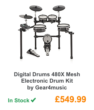 Digital Drums 480X Mesh Electronic Drum Kit by Gear4music.