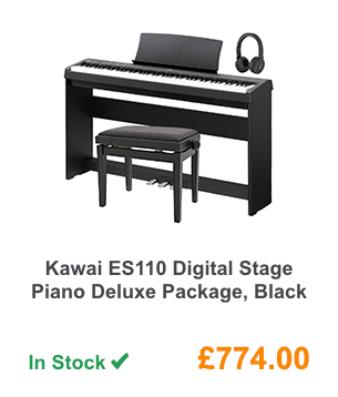 Kawai ES110 Digital Stage Piano Deluxe Package, Black.