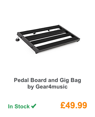 Pedal Board and Gig Bag by Gear4music.