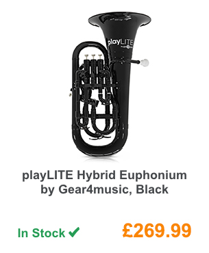 playLITE Hybrid Euphonium by Gear4music, Black.
