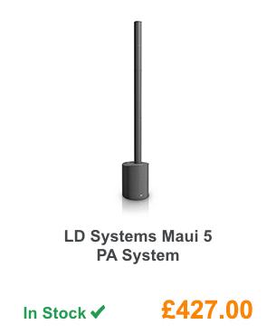 LD Systems Maui 5 PA System.
