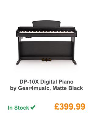 DP-10X Digital Piano by Gear4music, Matte Black.