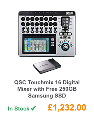 QSC Touchmix 16 Digital Mixer with Free 250GB Samsung SSD.