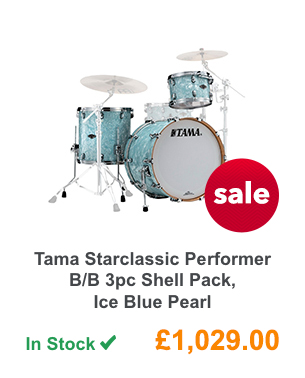 Tama Starclassic Performer B/B 3pc Shell Pack, Ice Blue Pearl.