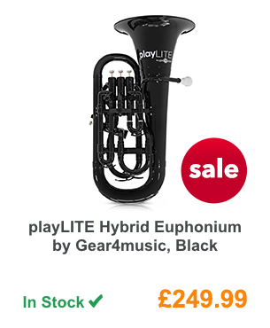 playLITE Hybrid Euphonium by Gear4music, Black.
