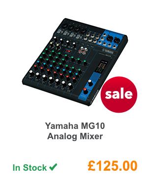 Yamaha MG10 Analog Mixer.