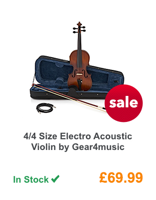 4/4 Size Electro Acoustic Violin by Gear4music.