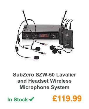 SubZero SZW-50 Lavalier and Headset Wireless Microphone System.