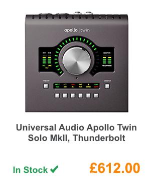 Universal Audio Apollo Twin Solo MkII, Thunderbolt.