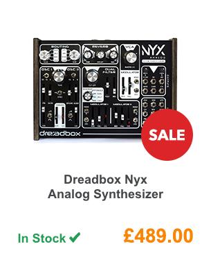 Dreadbox Nyx Analog Synthesizer.