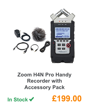 Zoom H4N Pro Handy Recorder with Accessory Pack.
