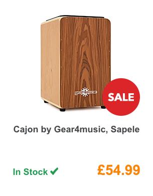 Cajon by Gear4music, Sapele.