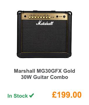 Marshall MG30GFX Gold 30W Guitar Combo.