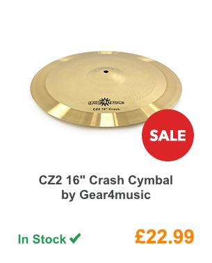 CZ2 16inch Crash Cymbal by Gear4music.