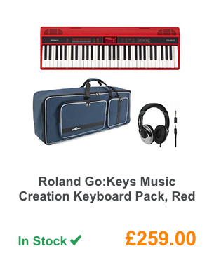 Roland Go:Keys Music Creation Keyboard Pack, Red.