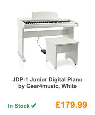 JDP-1 Junior Digital Piano by Gear4music, White.