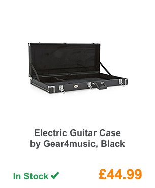 Electric Guitar Case by Gear4music, Black.