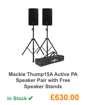 Mackie Thump15A Active PA Speaker Pair with Free Speaker Stands.