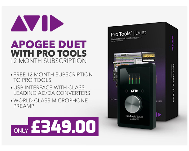 Apogee Duet with Pro Tools 12 Month Subscription.