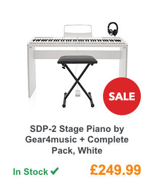 SDP-2 Stage Piano by Gear4music + Complete Pack, White.