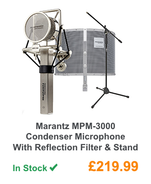 Marantz MPM-3000 Condenser Microphone With Reflection Filter & Stand.