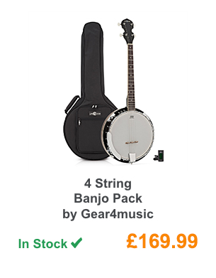 4 String Banjo Pack by Gear4music.