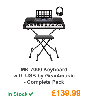 MK-7000 Keyboard with USB by Gear4music - Complete Pack.