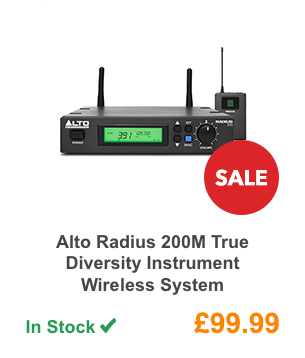 Alto Radius 200M True Diversity Instrument Wireless System.