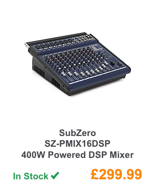 SubZero SZ-PMIX16DSP 400W Powered DSP Mixer.