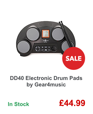 DD40 Electronic Drum Pads by Gear4music.