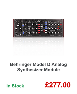 Behringer Model D Analog Synthesizer Module.