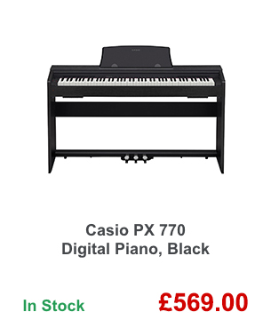 Casio PX 770 Digital Piano, Black.