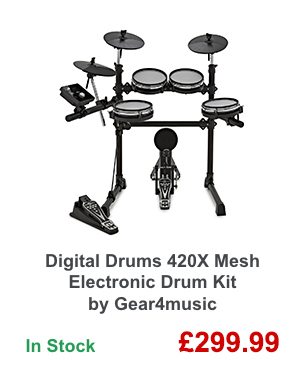 Digital Drums 420X Mesh Electronic Drum Kit by Gear4music.