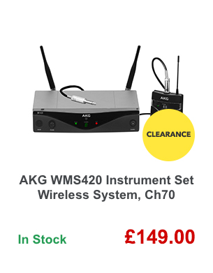 AKG WMS420 Instrument Set Wireless System, Ch70.