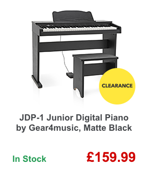 JDP-1 Junior Digital Piano by Gear4music, Matte Black.