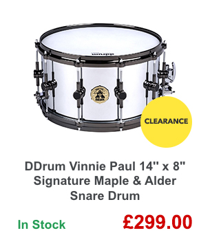 DDrum Vinnie Paul 14'' x 8'' Signature Maple & Alder Snare Drum.