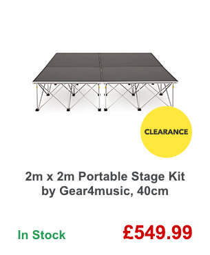 2m x 2m Portable Stage Kit by Gear4music, 40cm.