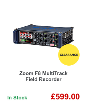Zoom F8 MultiTrack Field Recorder.