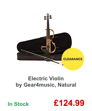 Electric Violin by Gear4music, Natural.